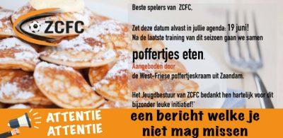 Poffertjes eten bij ZCFC