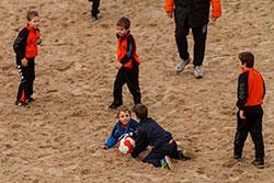 Zaterdag 4 januari jeugd strandtraining