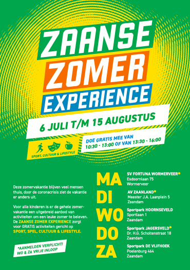 Zaanse Voetbal Experience op 25 juli bij ZCFC (jeugd)